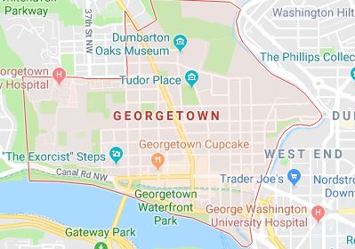 map georgetown dc